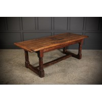 18th Century Solid Oak Refectory Dining Table