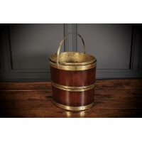 George III Mahogany & Brass Peat Bucket