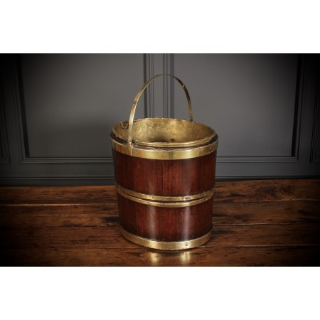 George III Mahogany & Brass Peat Bucket