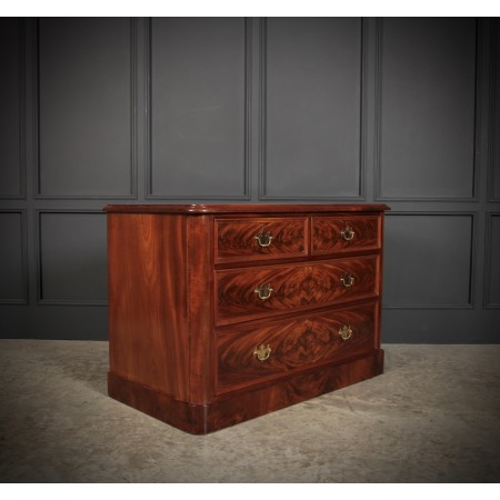 Victorian Flame Mahogany Low Dressing Chest
