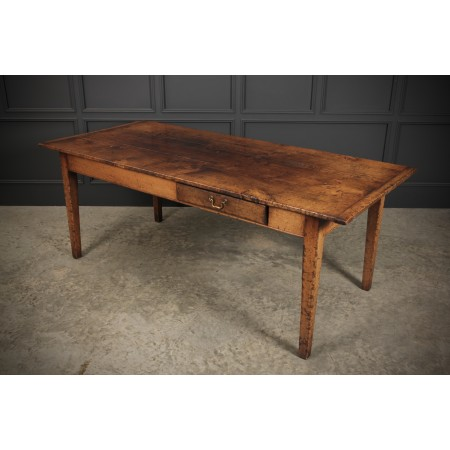 French Rustic Oak Dining Table
