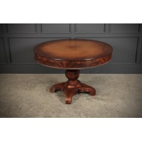 Continental Mahogany Biedermeier Drum Centre Table