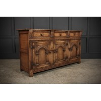 Carved Ipswich Oak Sideboard