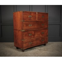 Military Mahogany Secretaire Chest