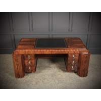 Magnificent Rosewood Art Deco Freestanding Desk