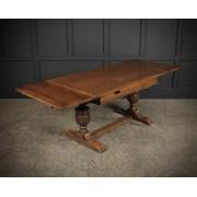Solid Oak Draw Leaf Dining Table