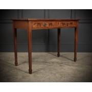 Edwardian Inlaid Flame Mahogany Side Table