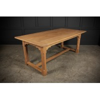 Large Light Oak Refectory Dining Table