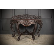 19th Century Burmese Carved Console Table
