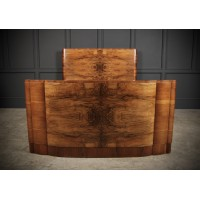 Art Deco Walnut Standard Double Bed