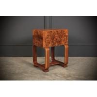Art Deco Walnut Sewing Box
