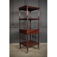 Slim 4 Tier Mahogany Whatnot