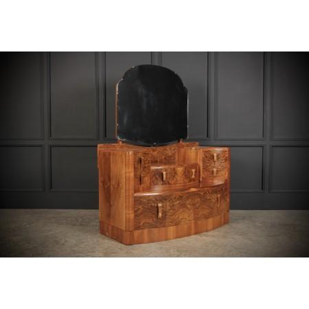 Figured Walnut Art Deco Dressing Table
