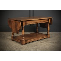 Solid Ipswich Oak Drop Leaf Coffee Table