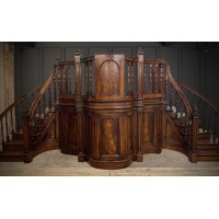 Early Victorian Mahogany Pulpit / Rostrum / Podium