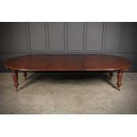 Large William IV Mahogany Extending Dining Table