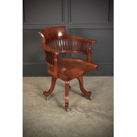 Mahogany Swivel Desk Chair