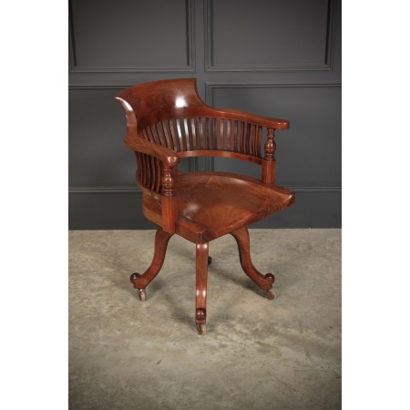 Mahogany Swivel Desk Chair