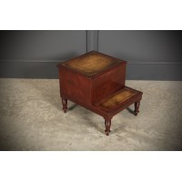 Regency Mahogany & Leather Library Steps