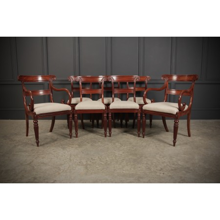 Regency Mahogany Dining Chairs
