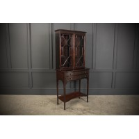 Chinese Chippendale Glazed Bookcase on Stand
