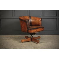 Hand Dyed Leather Desk Chair