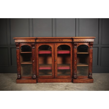 Fine Quality Mahogany 4 Door Glazed Bookcase