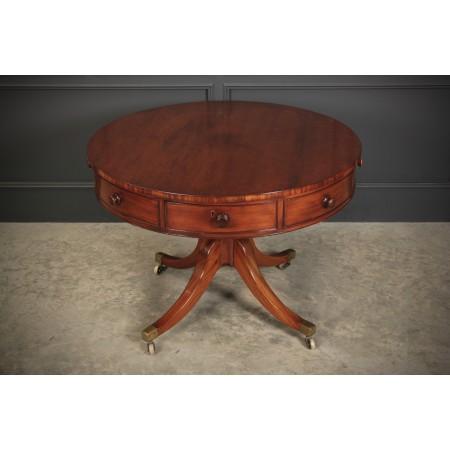 Georgian Mahogany Drum Table
