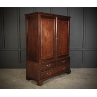 Georgian Mahogany Gentlemans Wardrobe