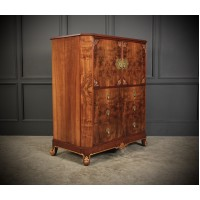 Figured Walnut Art Deco Tallboy