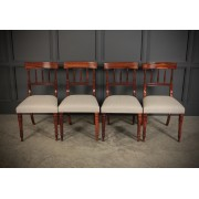 Set of 4 William IV Goncalo Alves Dining Chairs