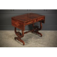 Marquetry Inlaid Rosewood Sofa Table