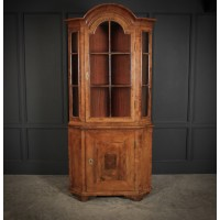 Queen Anne Walnut Domed Corner Cupboard