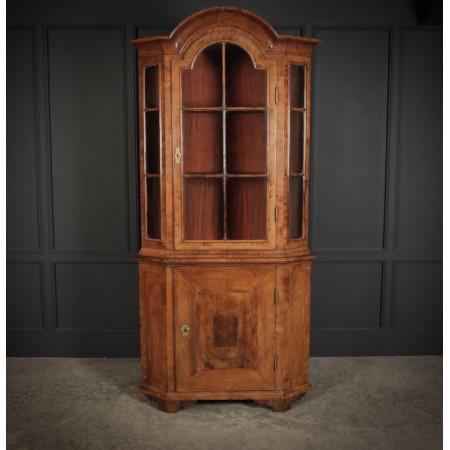 Queen Anne Walnut Domed Corner Cupboard