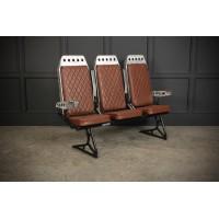 Row of Aluminium Plane Seats