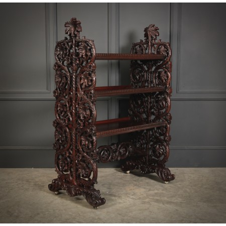 Magnificent Burmese Carved 3 Tier Buffet