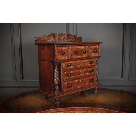 Miniature Mahogany Apprentice Chest