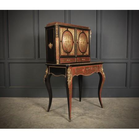 Brass Inlaid Tortoiseshell Boulle Cabinet