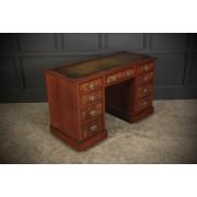 Late Victorian Burr Walnut Desk