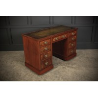 Late Victorian Burr Walnut Desk