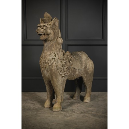 Large Chinese Temple Dog Garden Ornament