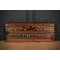 Victorian Mahogany Snooker Scoreboard by George Edwards