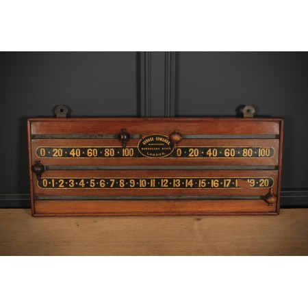 Victorian Mahogany Snooker Scoreboard by George Edwards