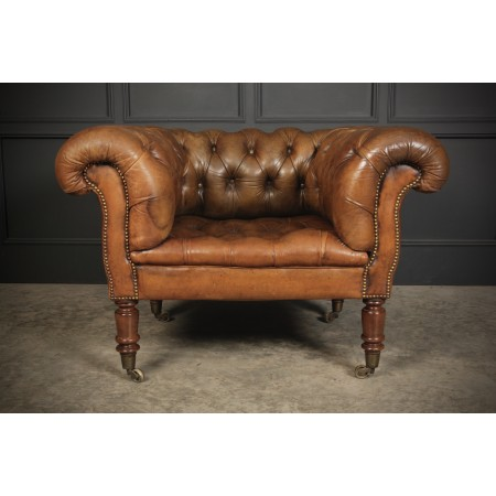 Stunning Victorian Chesterfield Leather Club Chair
