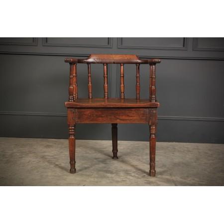 18th Century Oak Cricket Chair