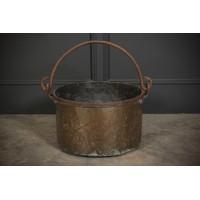 Large Victorian Brass Cauldron