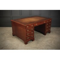 Very Large Regency Mahogany Partners Desk