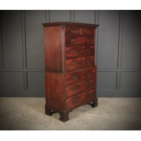 18th Century Chinese Chippendale Chest on Chest