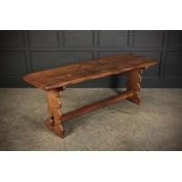 Slim Rustic Oak Farmhouse Refectory Table