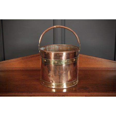 Victorian Copper & Brass Bucket
